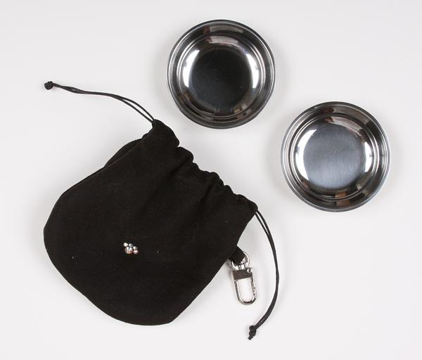 BLACK TRAVEL POUCH, Travel Bowls - Bones Bizzness