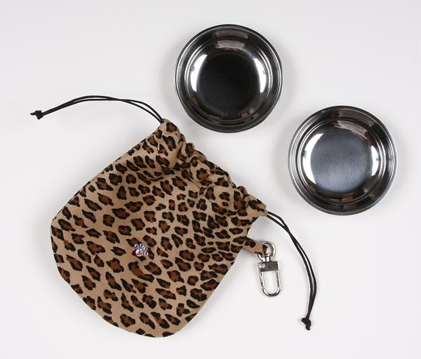 CHEETAH TRAVEL POUCH, Travel Bowls - Bones Bizzness