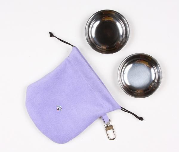 FRENCH LAVENDER TRAVEL POUCH, Travel Bowls - Bones Bizzness