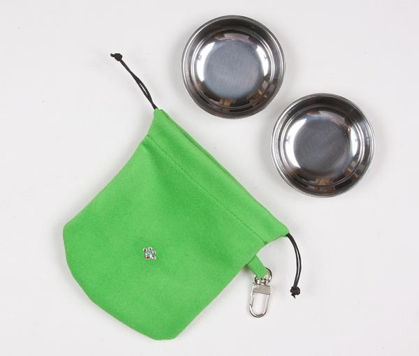 GREEN TRAVEL POUCH, Travel Bowls - Bones Bizzness