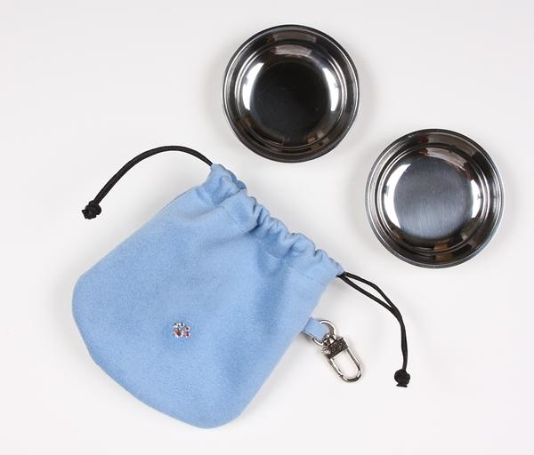 PUPPY BLUE TRAVEL POUCH, Travel Bowls - Bones Bizzness