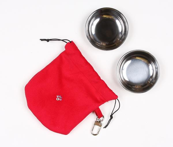 RED TRAVEL POUCH, Travel Bowls - Bones Bizzness