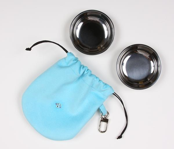 TIFFI BLUE TRAVEL POUCH, Travel Bowls - Bones Bizzness