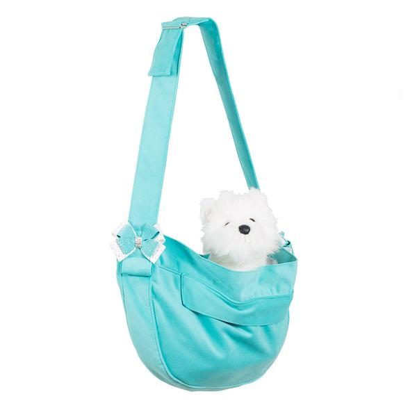 CUDDLE CARRIER BIMINI BLUE WITH NOUVEAU BOW, Carriers - Bones Bizzness