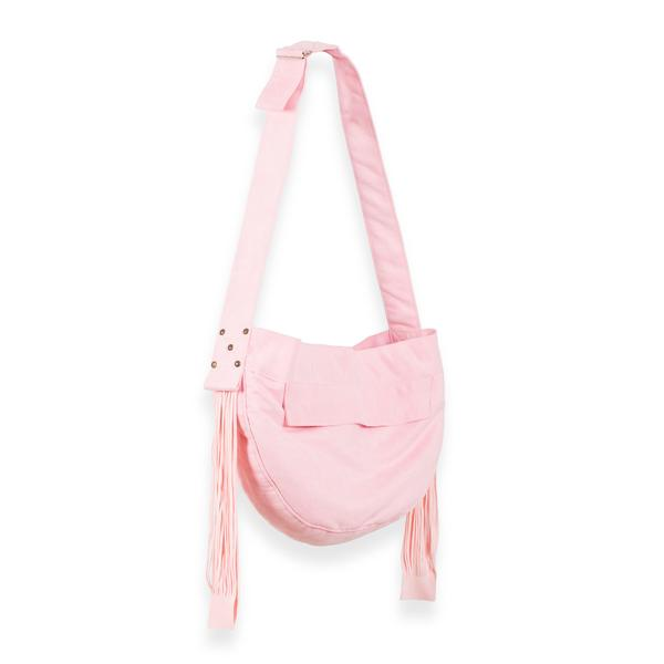 CUDDLE DOG CARRIER PUPPY PINK & FRINGE, Carriers - Bones Bizzness