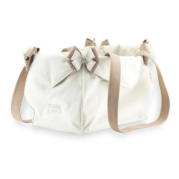 DOE & FAWN LUXURY PURSE TWO TONED DOG CARRIER- BY SUSAN LANCI, Carriers - Bones Bizzness