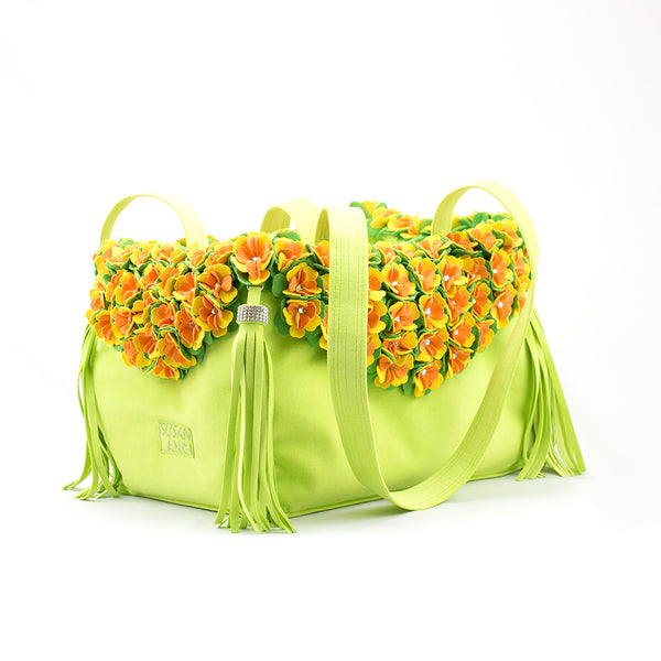 LIMITED EDITION LUXURY PURSE TINKIE'S GARDEN KIWI - BY SUSAN LANCI, Carriers - Bones Bizzness