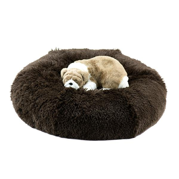 CHOCOLATE SHAG DOG BED, Beds - Bones Bizzness