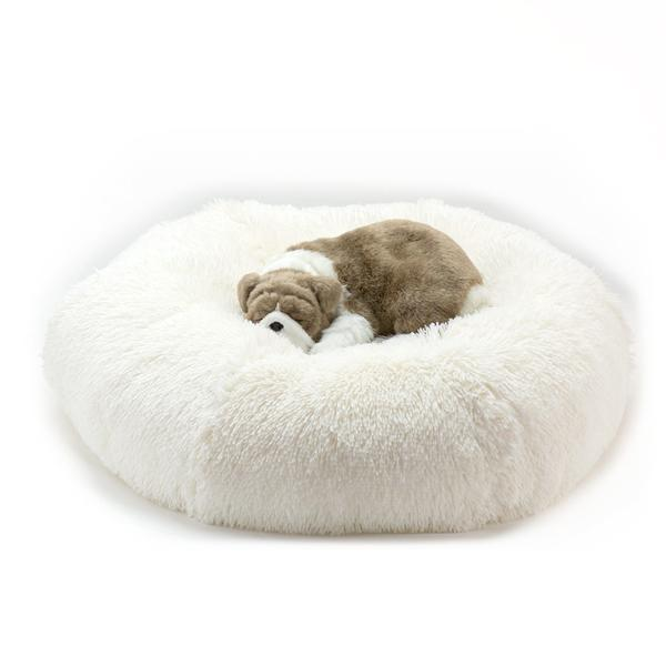 CREAM SHAG DOG BED, Beds - Bones Bizzness