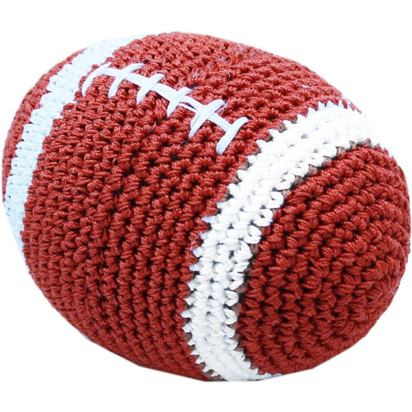 FOOTBAL COTTON SMALL DOG TOY, Toys - Bones Bizzness