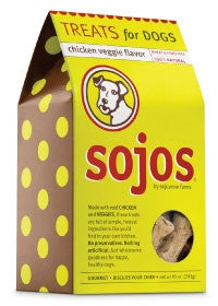 SOJO DOG TREAT CHICKEN VEGGIE 10OZ