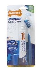 NYLABONE ADVANCED ORAL CARE NATURAL DOG DENTAL KIT SMALL DOG