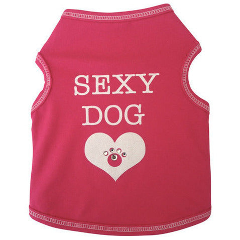 SEXY DOG TANK HOT PINK, Shirts Tanks & Tees - Bones Bizzness
