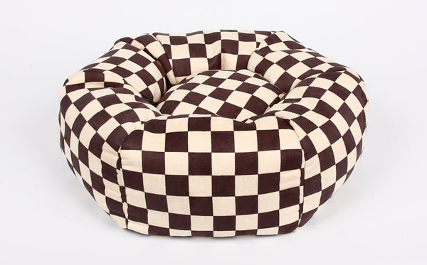 WINDSOR BROWN CHECKERED BED BY SUSAN LANCI, Beds - Bones Bizzness