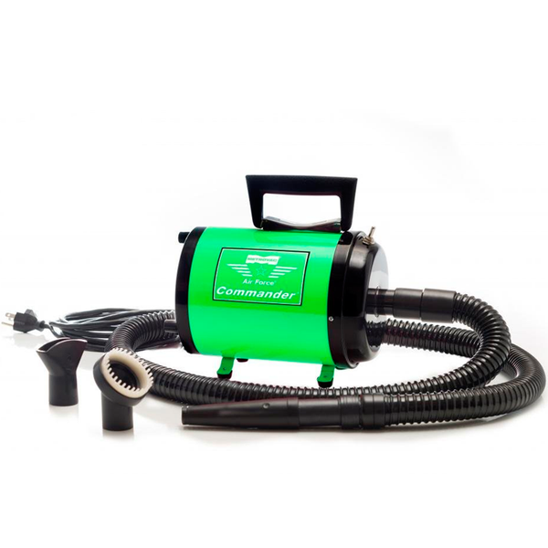 AIR FORCE COMMANDER TWO SPEED SERIES GREEN 1.17 HP MOTOR DOG DRYER, Groom - Bones Bizzness