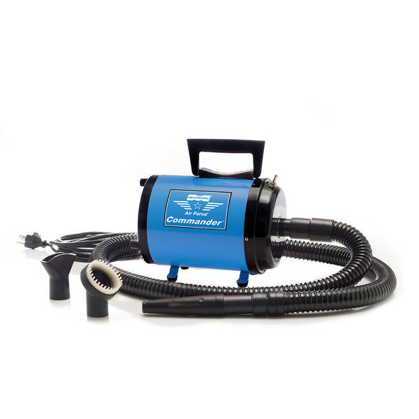 AIR FORCE COMMANDER TWO SPEED SERIES BLUE 1.7 HP MOTOR DOG DRYER, Groom - Bones Bizzness