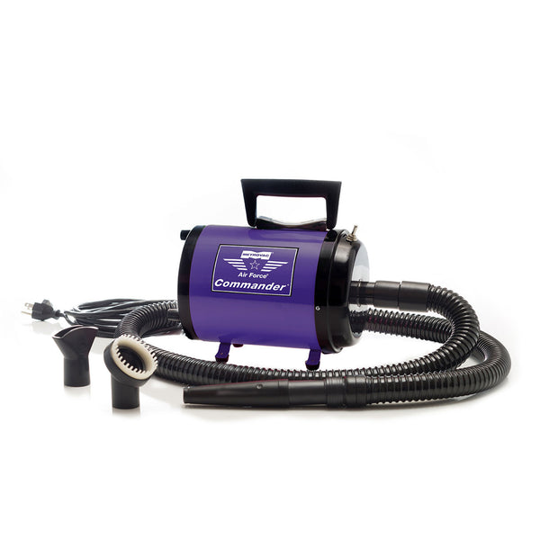 AIR FORCE COMMANDER TWO SPEED SERIES PURPLE 4.0 HP MOTOR DOG DRYER, Groom - Bones Bizzness