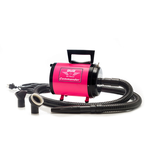 AIR FORCE COMMANDER TWO SPEED SERIES PINK 1.17 HP MOTOR DOG DRYER, Groom - Bones Bizzness