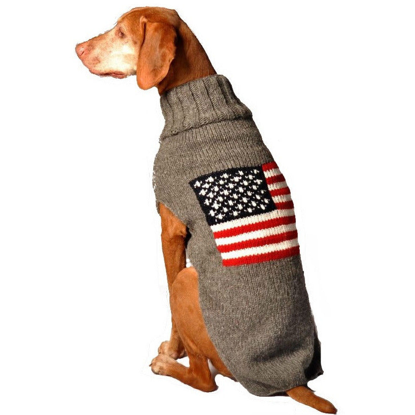 AMERICAN FLAG DOG SWEATER - Bones Bizzness