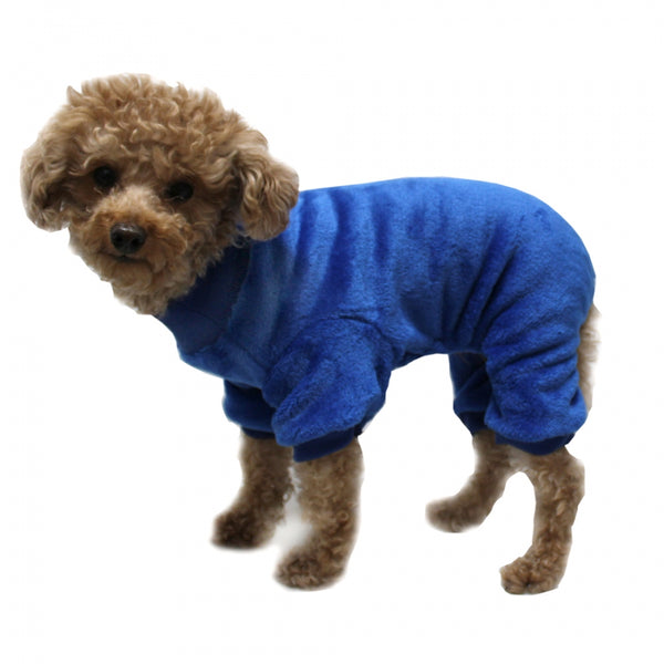 SUPER SOFT FLEECE ROYAL BLUE DOG PJ'S