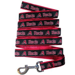 ARIZONA DIAMONDBACKS DOG LEASH – RIBBON, MLB - Bones Bizzness