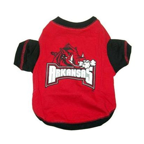 ARKANSAS RAZORBACKS DOG TEE SHIRT, NCAA - Bones Bizzness
