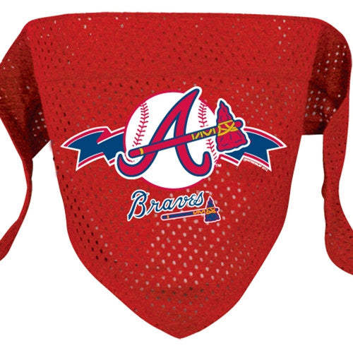 ATLANTA BRAVES DOG BANDANA, MLB - Bones Bizzness
