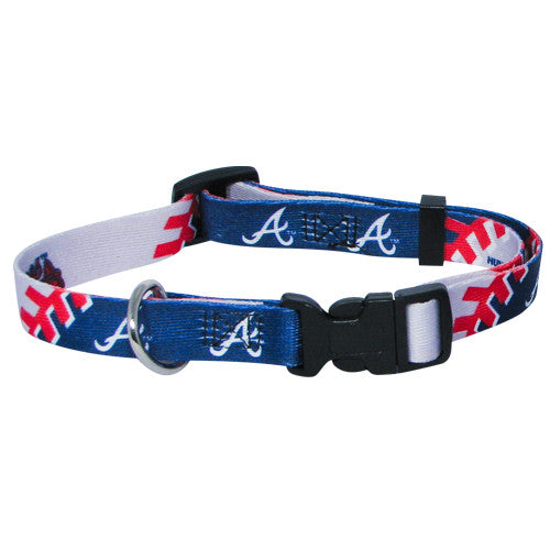 ATLANTA BRAVES DOG COLLAR, MLB - Bones Bizzness