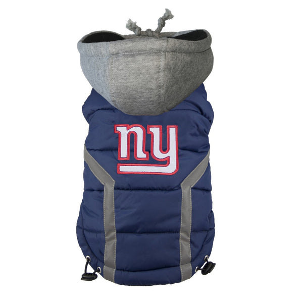 NEW YORK GIANTS NFL DOG PUFFER VEST, NFL COATS - Bones Bizzness
