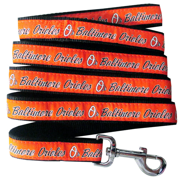 BALTIMORE ORIOLES DOG LEASH – RIBBON, MLB - Bones Bizzness