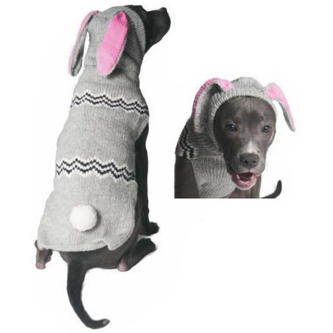 BUNNY HOODIE DOG SWEATER BY CHILLY DOG - Bones Bizzness