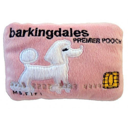 BARKINGDALES CREDIT CARD PLUSH DOG TOY, Toys - Bones Bizzness