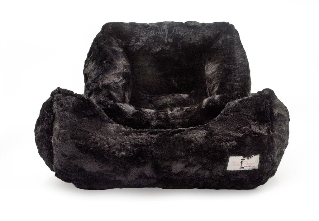 BELLA DOG BED - BLACK, Beds - Bones Bizzness