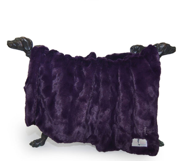 PURPLE FAUX BELLA DOG BLANKET, Blankets - Bones Bizzness