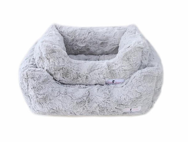 BELLA DOG BED - SILVER