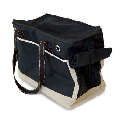 BIG BLACK TOTE DOG CARRIER, Carriers - Bones Bizzness