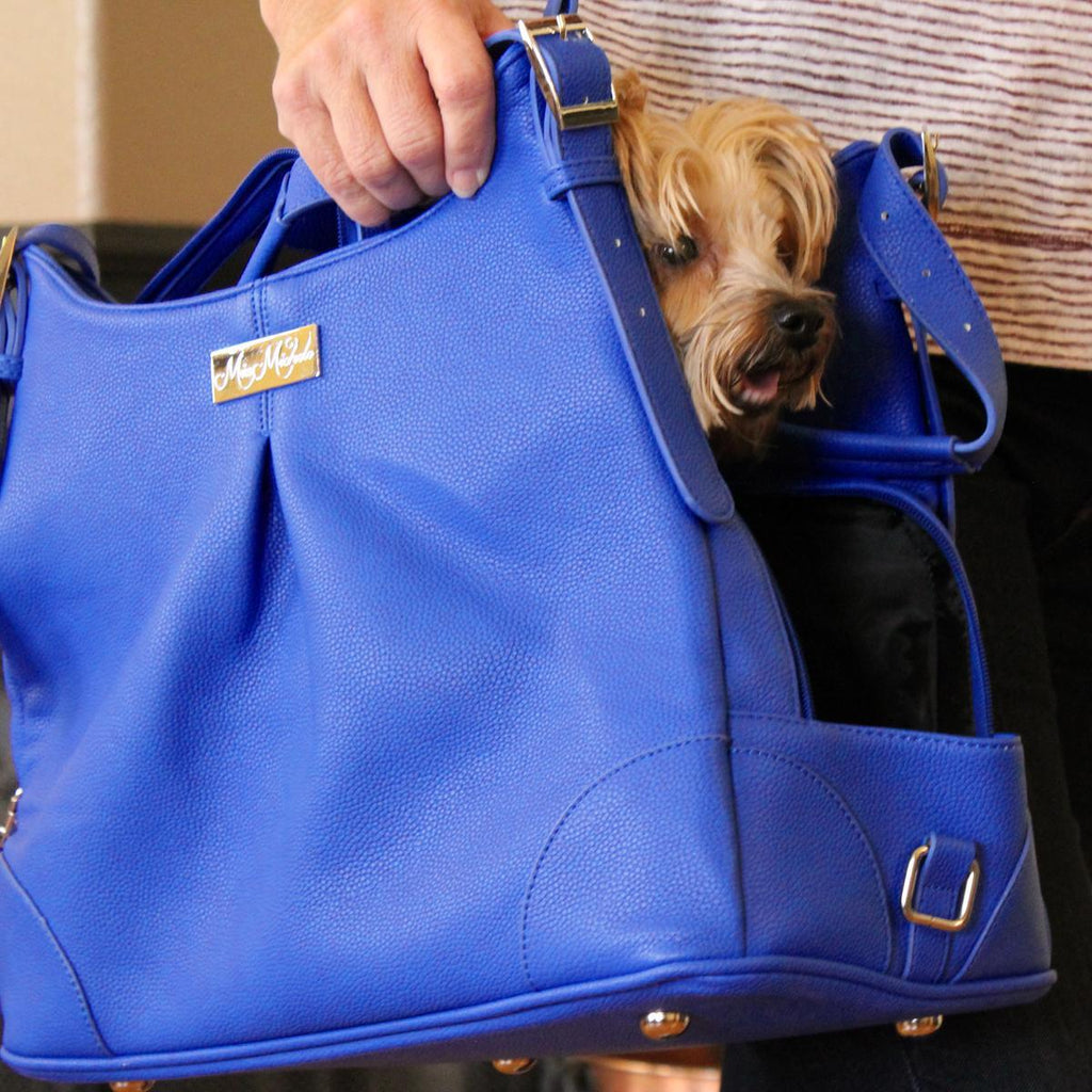 BLUE LAPIS MIA MICHELE DOG CARRY BAG, Carriers - Bones Bizzness