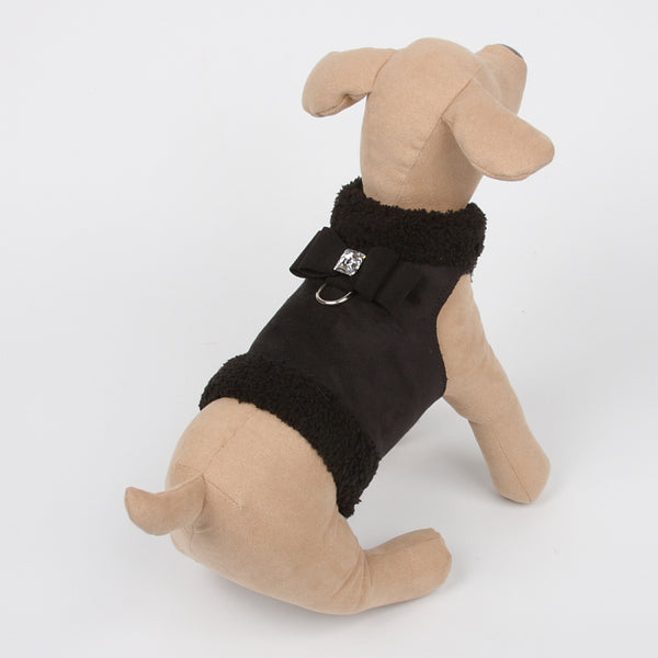 BOWZER JACKET BLACK WITH BIG BOW DOG COAT, Coats - Bones Bizzness