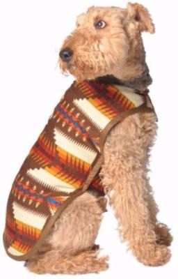 BROWN SOUTHWEST BLANKET COAT DOG SWEATER, Sweaters - Bones Bizzness