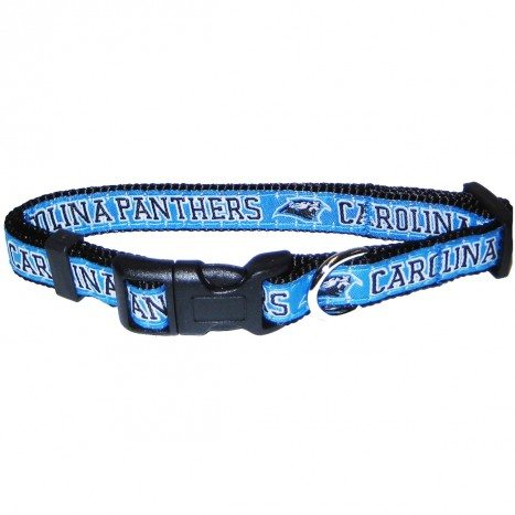 CAROLINA PANTHERS DOG COLLAR – RIBBON, NFL Collars - Bones Bizzness