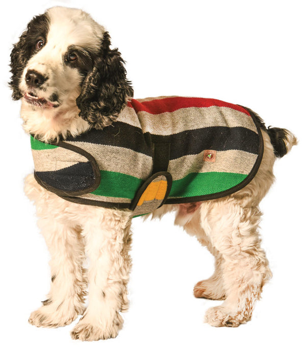 Grey Stripe Dog Blanket Coat, Sweaters - Bones Bizzness