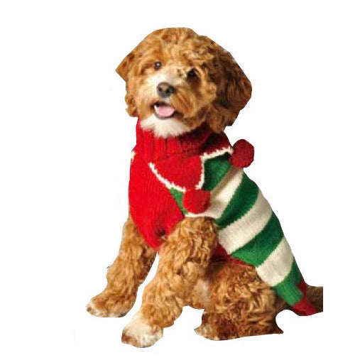 CHRISTMAS ELF HOLIDAY DOG SWEATER - Bones Bizzness