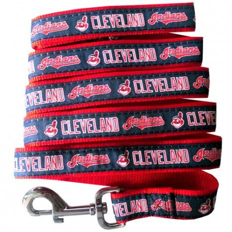 CLEVELAND INDIANS DOG LEASH-RIBBON, MLB - Bones Bizzness