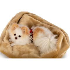 CAMEL SMOOTH CUDDLE CUP DOG BED