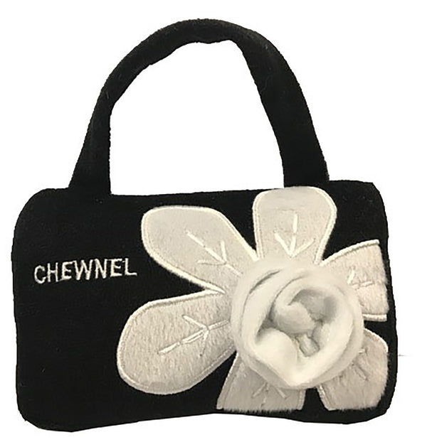 CHEWNEL FLEUR BLANCHE PURSE DOG TOY, Toys - Bones Bizzness