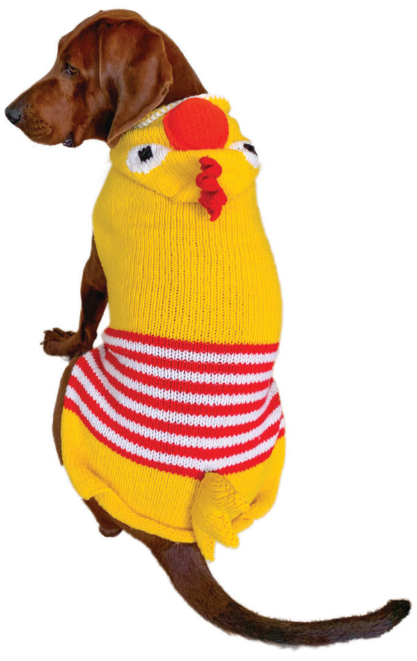 CHICKEN HOODIE WOOL DOG SWEATER