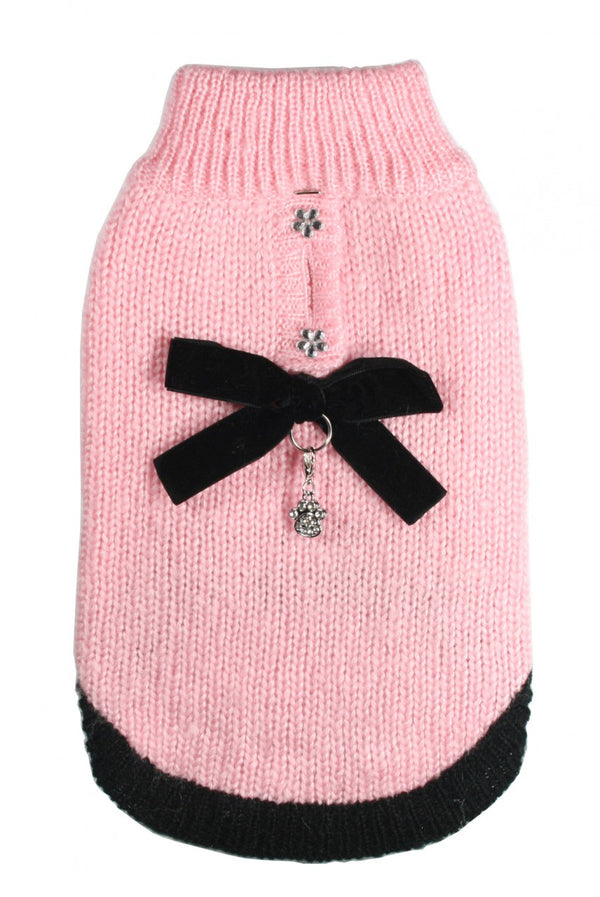 COCO PINK CLASSIC MOHAIR DOG SWEATER, Sweaters - Bones Bizzness