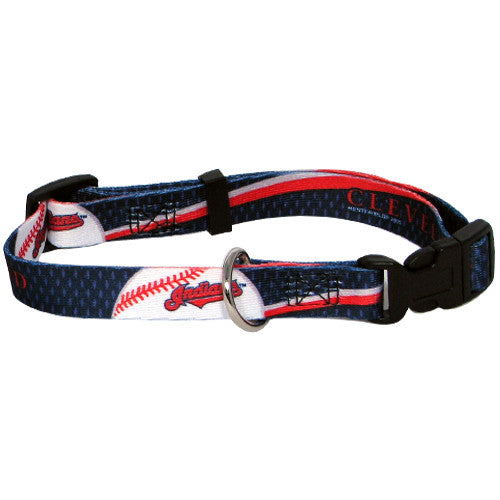 CLEVELAND INDIANS DOG COLLAR, MLB - Bones Bizzness