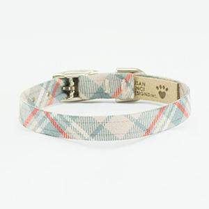 SUSAN LANCI SCOTTY PLAIN DOE PLAID ULTRASUEDE COLLAR, Collars - Bones Bizzness