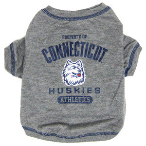 UCONN HUSKIES DOG TEE SHIRT, NCAA - Bones Bizzness